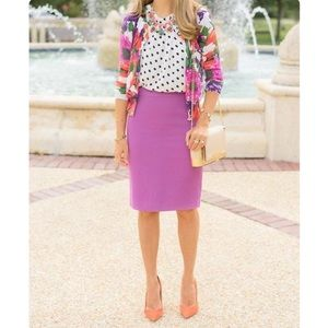 J Crew 🌿 Lilac Purple Wool Pencil Skirt 🌸